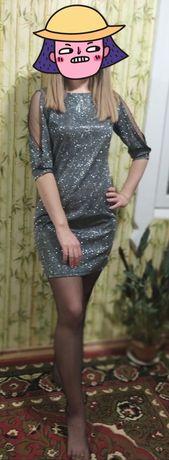 Платье, нарядное платье, платье с блёстками, блестящее платье