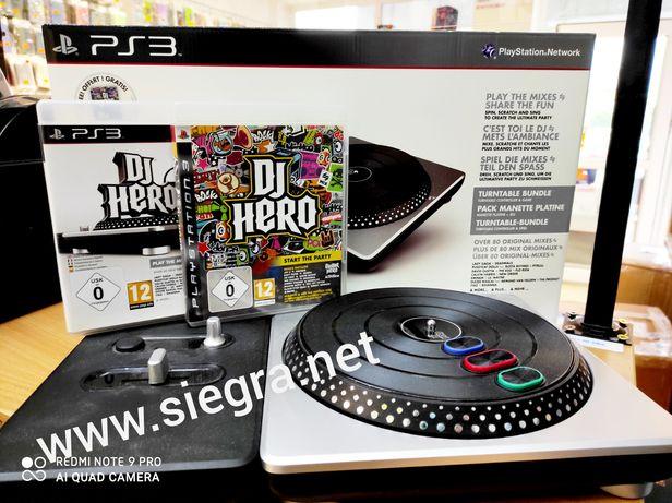 Konsola DJ Hero 2 plus dwie gry DJ Hero PS3