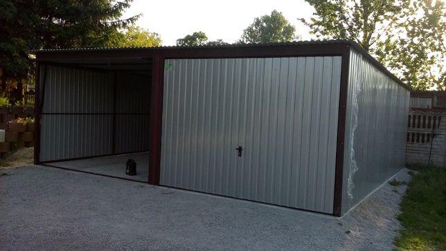 Garaż blaszany 6x6, producent, schowki,schowek na budowę