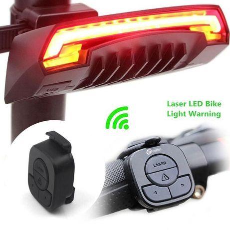 Задний вело фонарь фара с указателями поворотов Meilan X5 + подарок