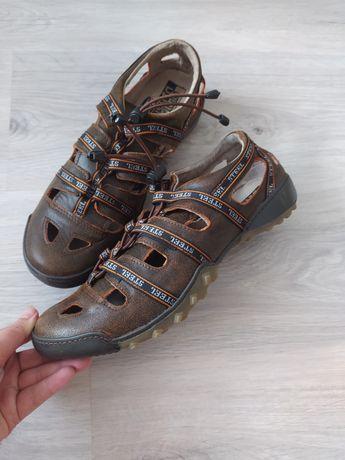 Кожаные сандали Steel , кожа сандалии