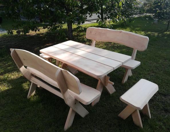 Meble ogrodowe drewniane, biesiadne, tarasowe, drewno olchowe
