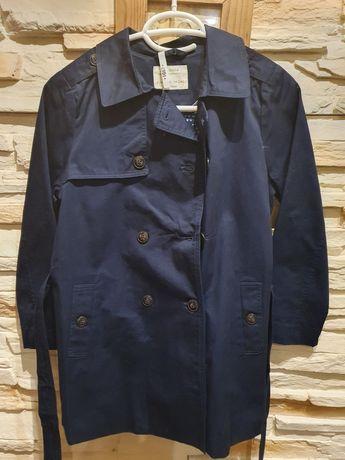 Śliczny płaszcz Zara dla dziewczynki jak nowy 140 cm