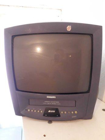 TV Philips com comando junto com antena parabolica