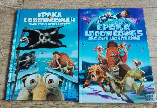 Epoka lodowcowa 4 i 5 - filmy DVD + książka