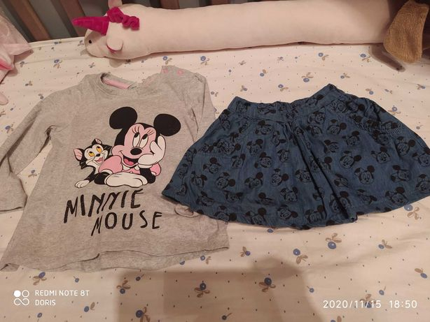 Spódnica i koszulka 86 cm Minnie