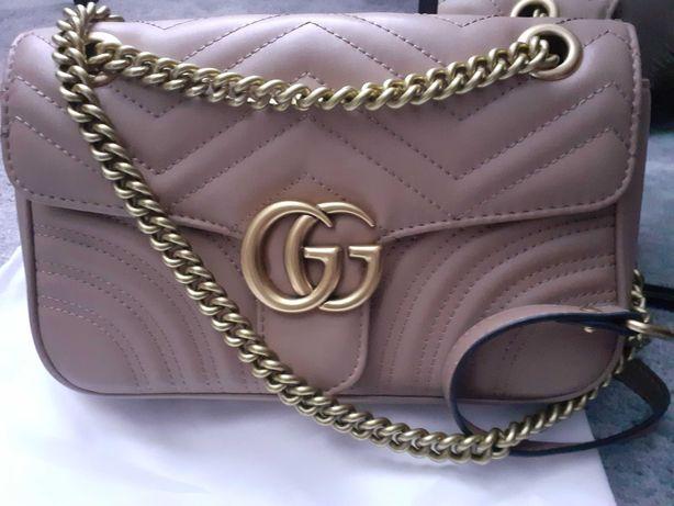 Gucci torebka różowy beż