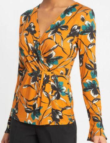 ORSAY śliczna bluzka żółta kwiaty - rozmiar XS