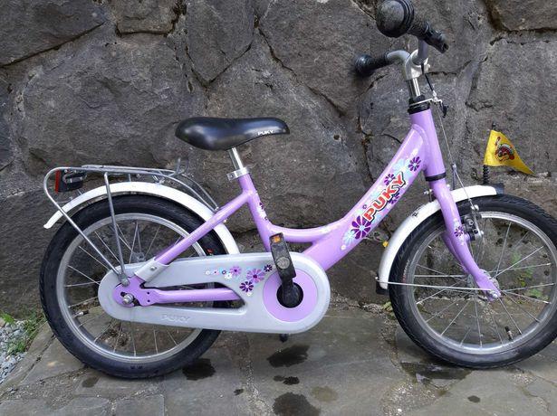 Rower Puky 16 cali liliowy aluminiowy lekki