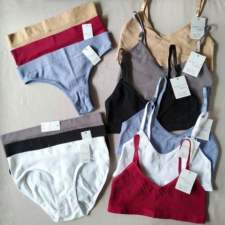Красиві і стильні комплекти жіночої білизни; топи; трусики