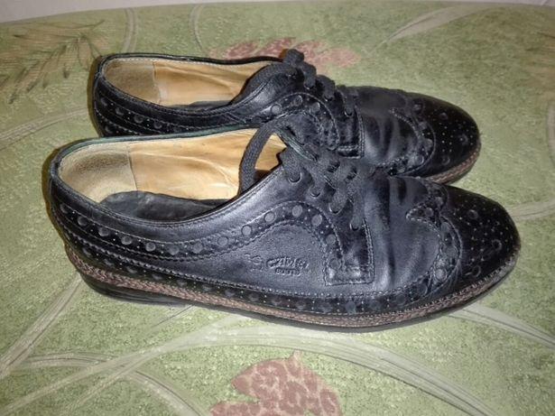 Кожаные туфли. Camel.