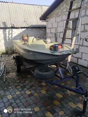 Продається лодка+мотор+лафет