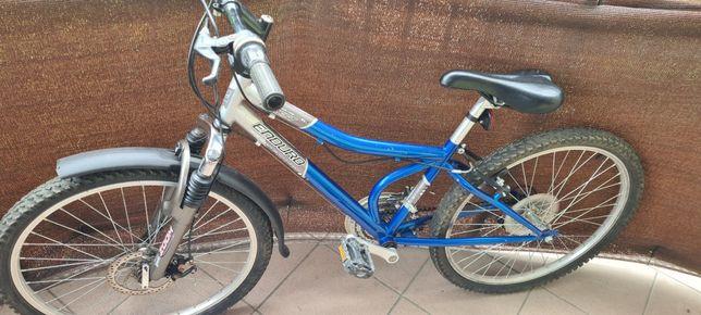 Rower 24 Enduro Forest Hamulec tarczowy przód amortyzator ZOOM