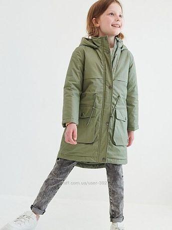 Парка куртка плащ для девочки 140 рост Reservd