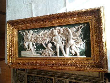 Obraz. Relief. Płaskorzeźba. Alabaster.