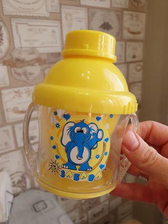 Поильник чашка-непроливайка Забава с набором насадок