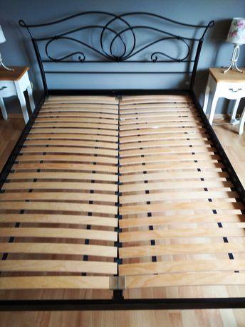 Łóżko metalowe kute