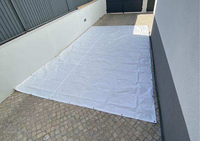 Lona Branca encerada impermeável 190 G/M2 3x5 metros NOVA