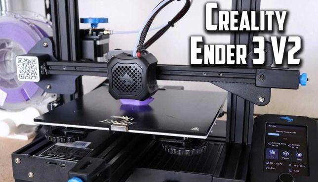 3D принтер CREALITY Ender 3 V2. Есть в Наличии! Новый! Гарантия 1 год!