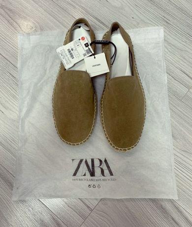 Летние туфли, замшевые эспадрильи Zara, 43 размер, по стельке 29см