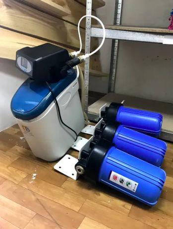 Система умягчения воды с тремя колбами для фильтра (Перша вода)