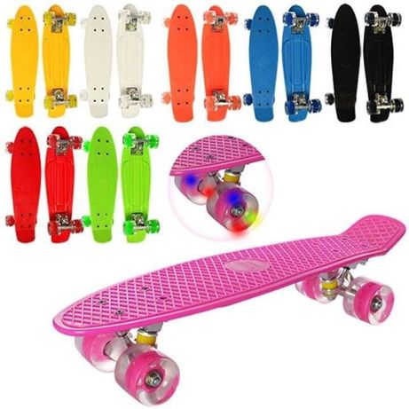 Акция!!!Скейт Пенни борд,Penny board,со светом колёс!