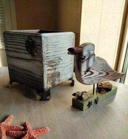 Крутой настольный органайзер и чайка Костик