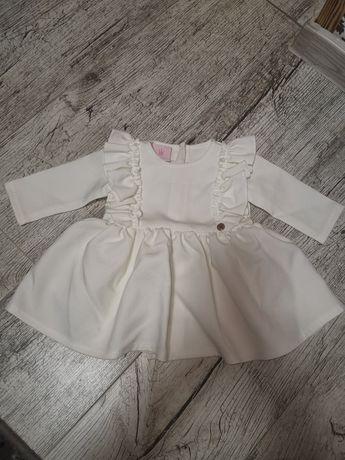 Biała sukienka 62/68