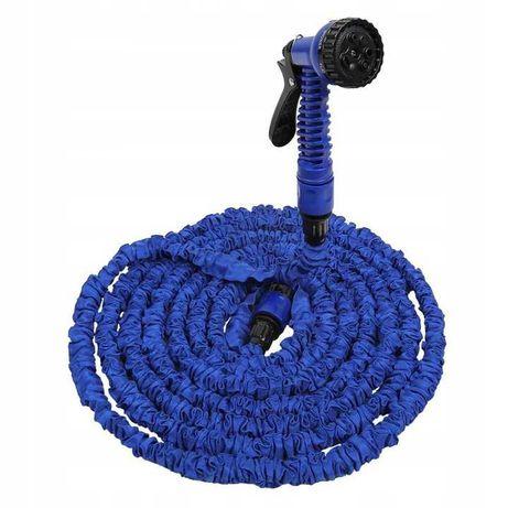 Wąż ogrodowy rozciągliwy 15-45 m niebieski