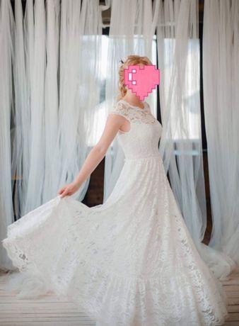 Свадебное платье, р. 38, М