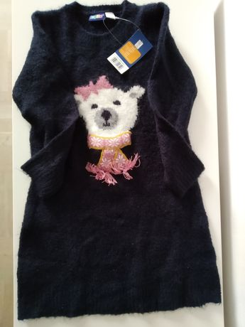 Misia - urocza swetro-sukienka dla dziewczynki, 98 cm