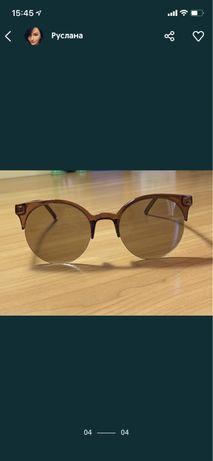 Очки солнцезащитные коричневые