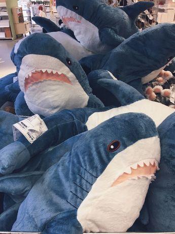 Мягкая игрушка Акула ИКЕА 80см Синяя/Амонг ас,при покупке акулы скидка