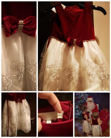 2 Sukienki Cinderella 2 i 4 lata