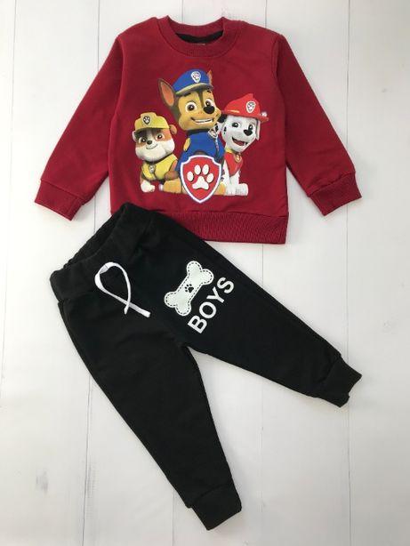 Dres chłopięcy komplet Psi Patrol bluza i spodnie r. 122 - 128