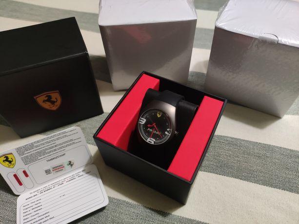 Relógio Ferrari Pitstop Watch Black PVD Carbon novo e embalado