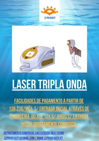 LASER TRIPLA ONDA (Alexandrite Diodo NdYag) + Curso DGERT + Garantia