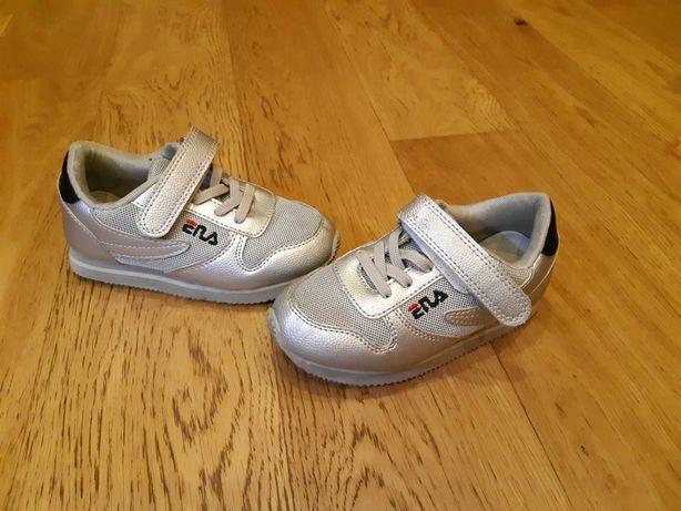 Кроссовки для девочки серебристые