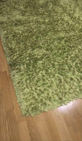 Zielony dywan Shaggy włochaty 165x225