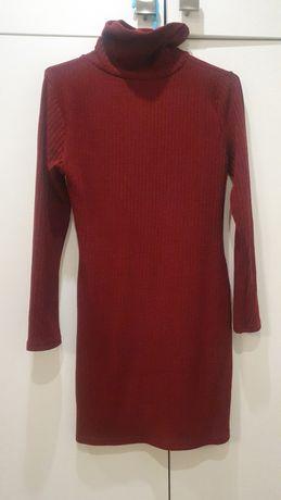 Golf sukienka dzianina cienką jesień XS damska