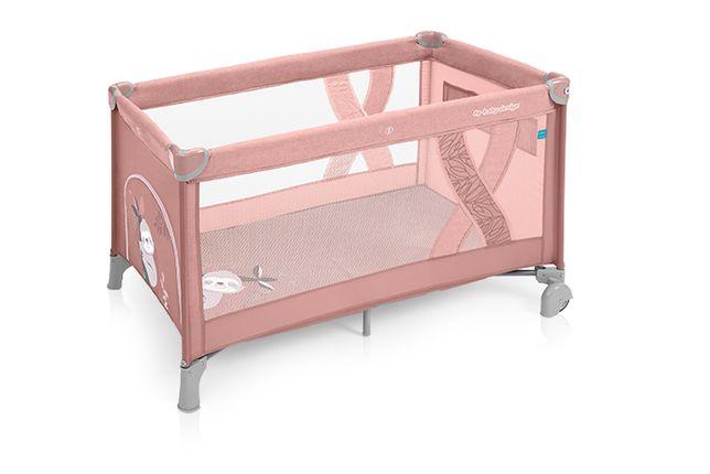 Baby Design lozeczko turystczne Simple Rozowe