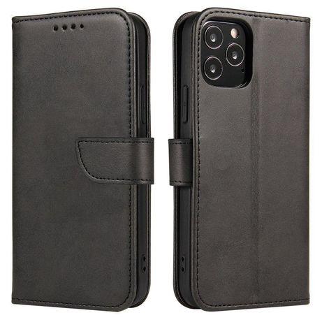 Capa Magnética Case Elegant Bookcase Type Case Kickstand Oneplus 8 Pro Preto