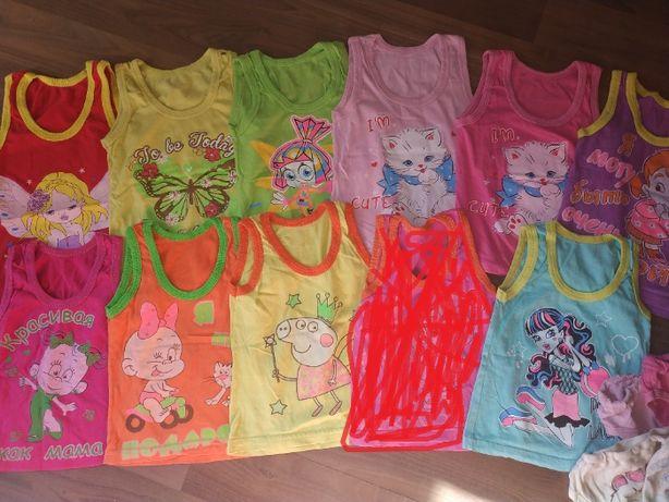 Трусы и майки для девочки, 15 комплектов от 3 до 6 лет
