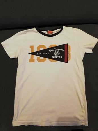 T-shirt 128 chłopiec zestaw 5szt. + spodenki