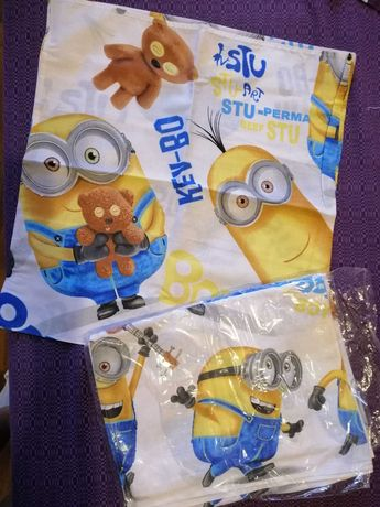 Детское постельное белье для мальчика миньен миньон Ткань: миньен