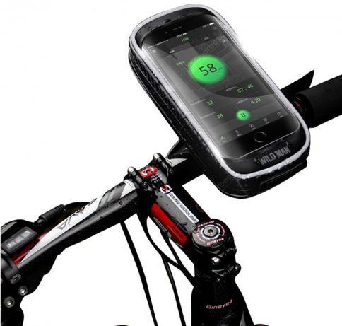 "Чехол Сумка на руль для телефона до 6.5"" Wild Man H16 вело велосипед"