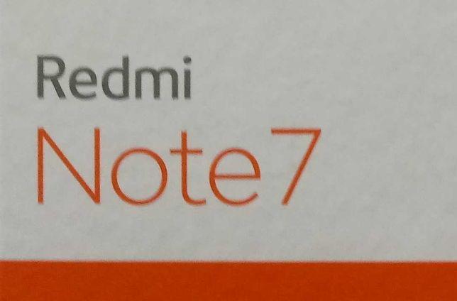 XIAOMI REDMI NOTE7 4/64GB 6,3' komplet salonowy Gratis trzy różne etui