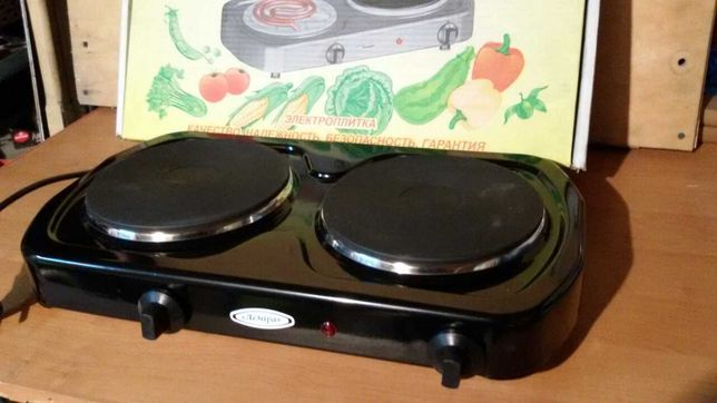 Электроплита двухконфорочная  дисковая Лемира