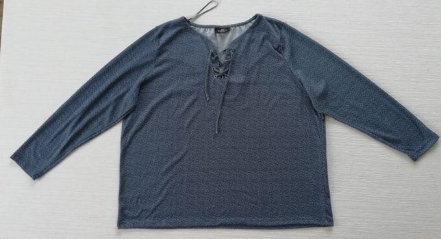 Niebieska, sweterkowa bluzka 52/54