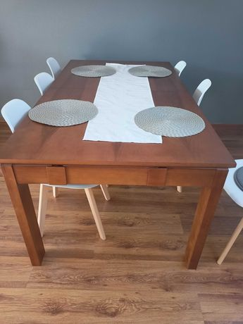 Stół drewniany z jesionu 180x100x76 rozkładany do 300cm